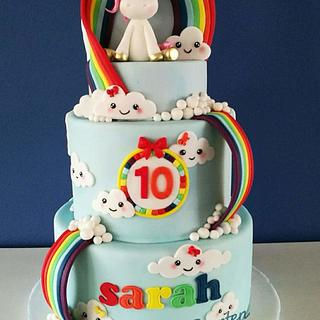 Rainbow unicorn cake - Cake by Wendy Schlagwein