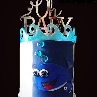 Baby shower Cake - Cake by LJay -Sugar Goblin Cakes