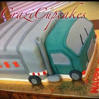 garbage truck 4th birthday cake