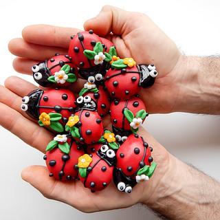 3D Mini Ladybug Shortbread Cookies