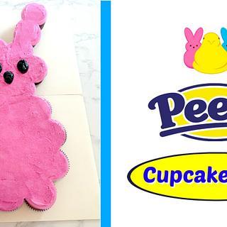 PEEPS BUNNY CUPCAKE CAKE!