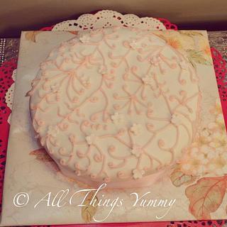 Scrollwork Cake!!