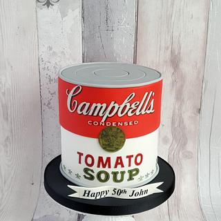 Campbells tomato soup can cake