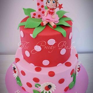 Spotty Strawberry style cake