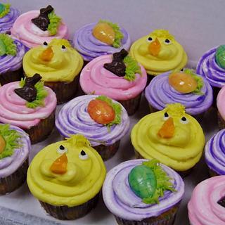Buttercream Easter cupcakes