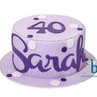 Sarah's 40th Bday Cake