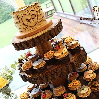 Woodland Wedding Cupcake Tower