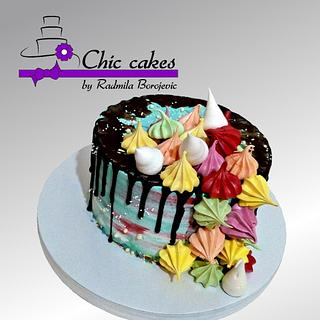 Meringues cake