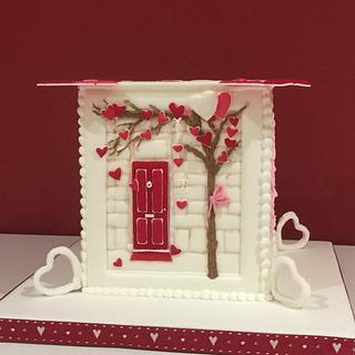 Valentine Royal icing cake