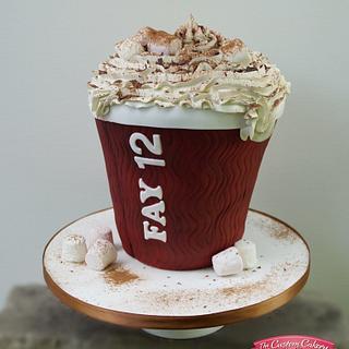 Costa Hot Chocolate  - Cake by The Custom Cakery