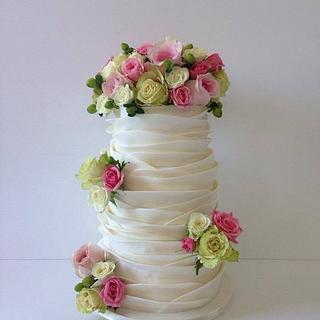 Spring wedding ruffles