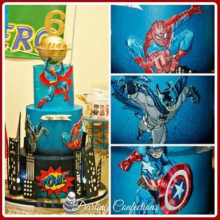 Icing Smiles Superhero theme Birthday Cake - Cake by Jacqulin