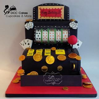 Poker Slot Machine Cake