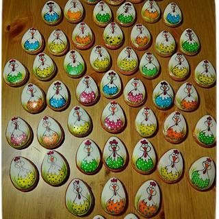Velikonoční perníčky ručně malované - Cake by Jitka