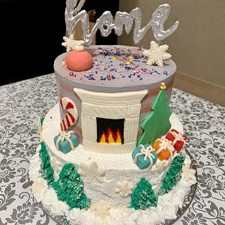 Home for Christmas - Cake by Loreta