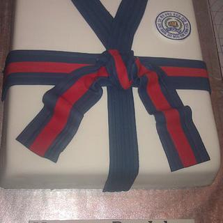 Soo Bahk Do: Martial arts Gi cake - Cake by Cakery Creation Liz Huber