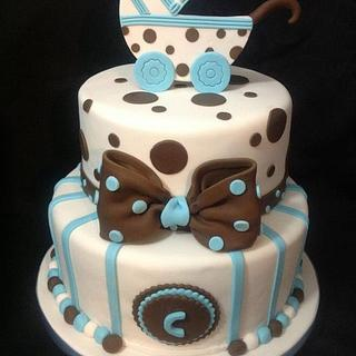 Baby Carriage Cake - Cake by Della