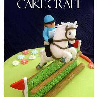 Cross Country horse jumping cake