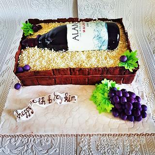 Wine Bottle Cake - Cake by Take a Bite