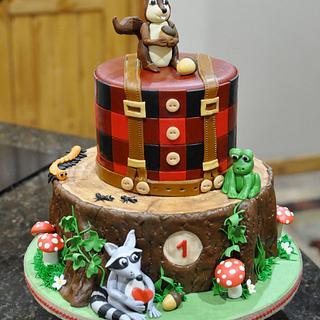Lumberjack/Wildlife Cake