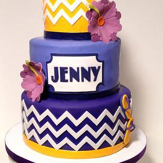 Summer Shower Cake - Cake by BumbleBake