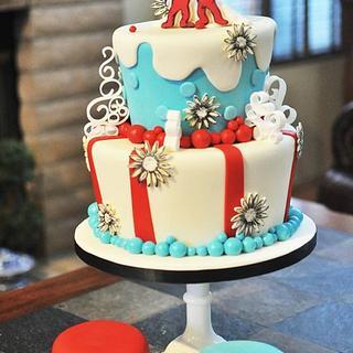 Thing 1 &Thing 2 Twins' Birthday Cake - Cake by Mavic Adamos