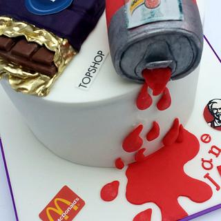 Dairy Milk, Schweppes Tomato Juice and a lot of Logos!