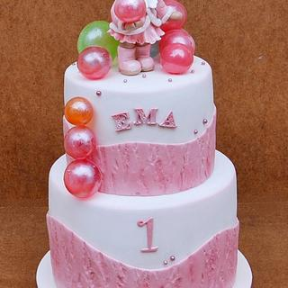 Balloons and teddy bear - Cake by Cakes by Toni