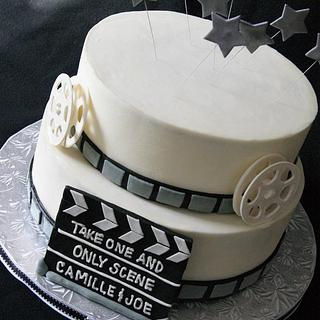 Movie themed groom's cake