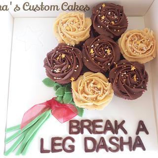 a good luck cupcake bouquet