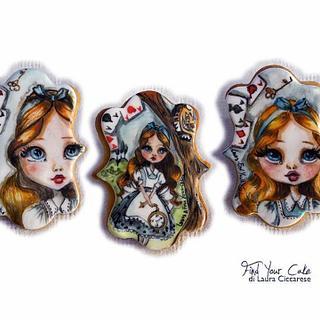 Alice handpainted cookies