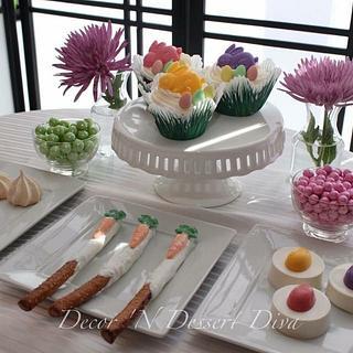 Mini Easter Dessert Table for my Hunny Bunnies