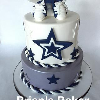 Cowboys baby... No Really... Cowboys and baby!  - Cake by Christy