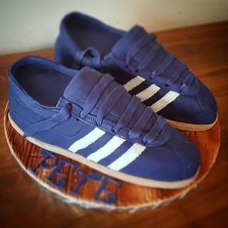 Adidas trainers cake  - Cake by Stacys cakes