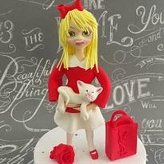 doll in red - Cake by Arletta