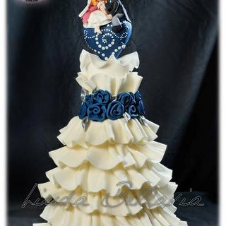 ruffles wedding cake (colette peters inspiration)