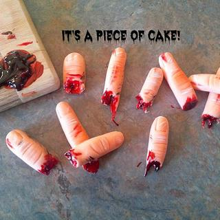 Bloody Fingers?! - Cake by Rebecca