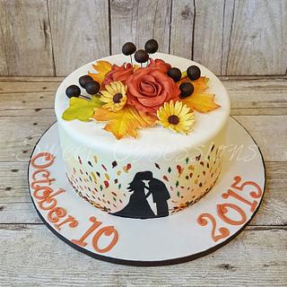 fall wedding cake - Cake by Sweet Obsessions Cake Co