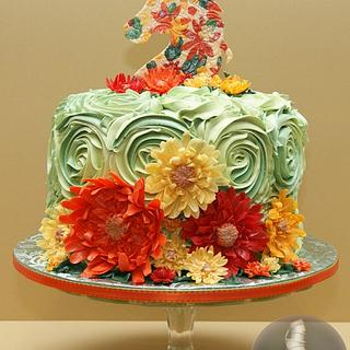Horse Cake with Rosettes