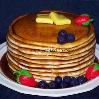 Pancake cake for Benefit Auction
