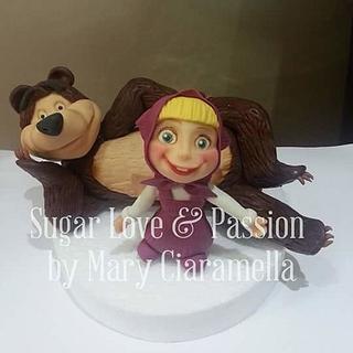Masha and Bear figurine (Masha e Orso)
