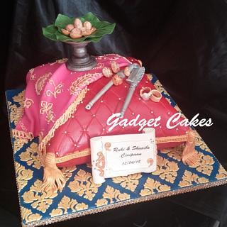 Cinipaan indian engagement pillow cake