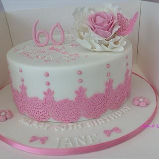 60th Birthday  - Cake by Sweet Lakes Cakes
