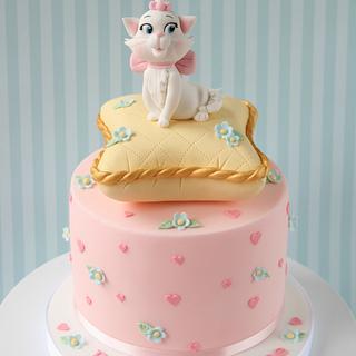 Aristocats Valentine's Cake - Cake by Amanda's Little Cake Boutique