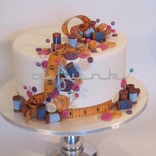 Sewing Supplies Cake