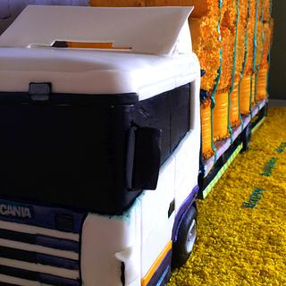 Lorry and bales - Cake by The chic cake boutique
