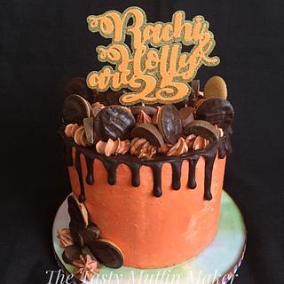 Jaffa orange drip cake