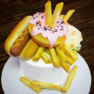 junk food cake!