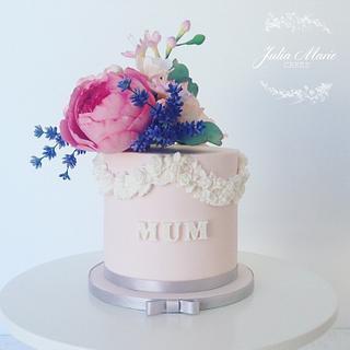 Blush Pink Floral Cake