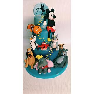 Disney overload  - Cake by Missyclairescakes